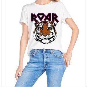 "Women's Tiger  ""Roar"" Graphic Tee in White"